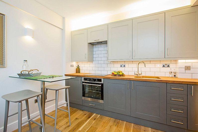 Set de cuisine pour une petite cuisine - Disposition à une rangée