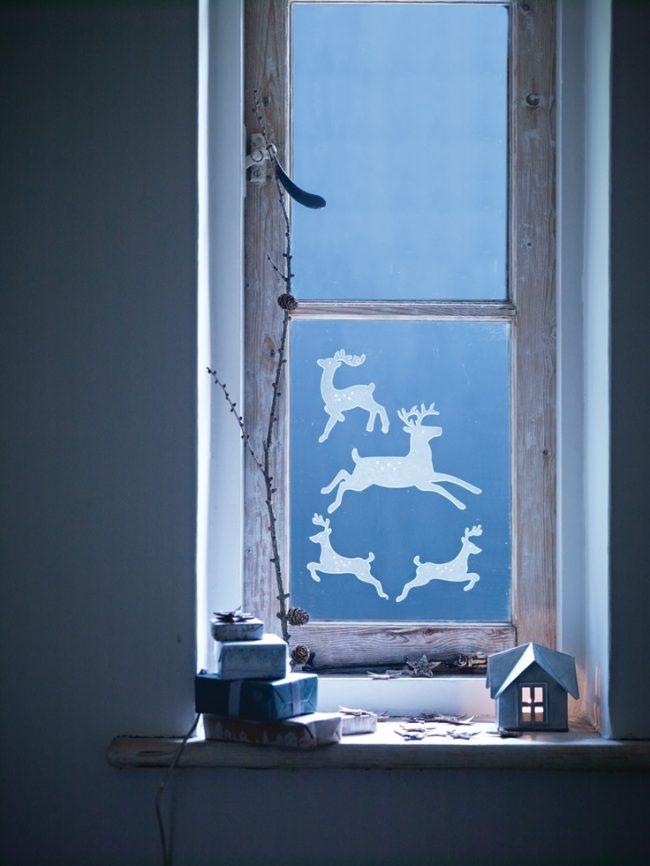 Décorez vous-même les fenêtres pour le Nouvel An - quoi de plus intéressant pour les enfants !