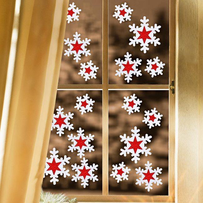 Des flocons de neige brillants donneront l'impression que le Nouvel An approche