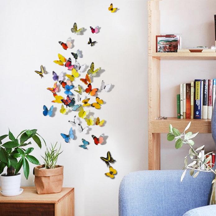 composition de papillons