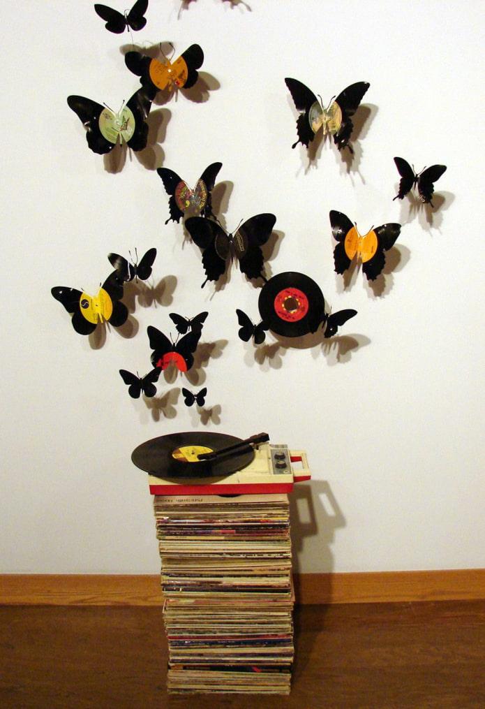papillons des assiettes