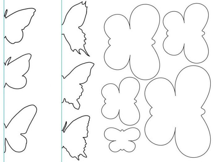 motifs de papillons pour la décoration