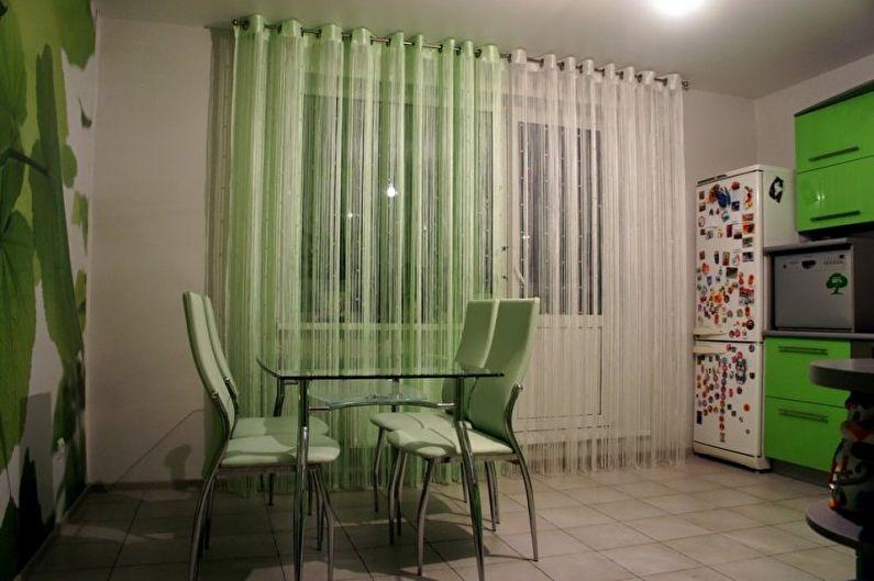 Types de rideaux de fils - Types de rideaux de fils de fixation