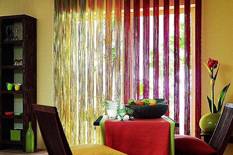 Types de rideaux de filaments - Matériaux pour la fabrication