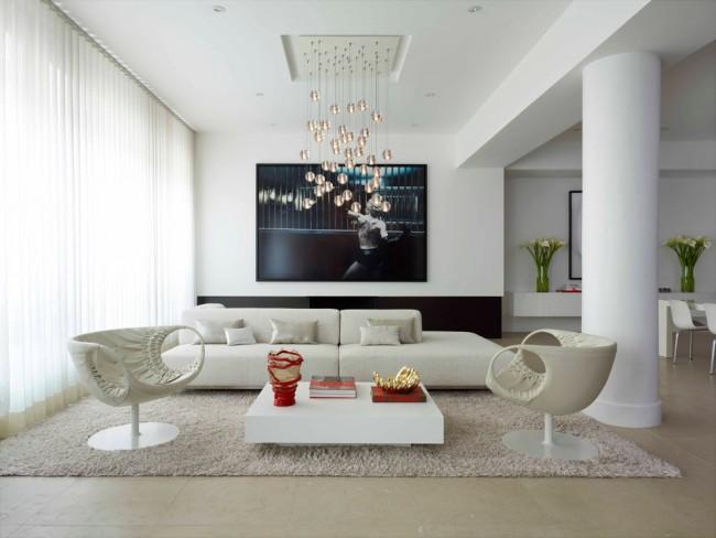 Pour le salon, le choix d'un lustre demande une attention particulière.