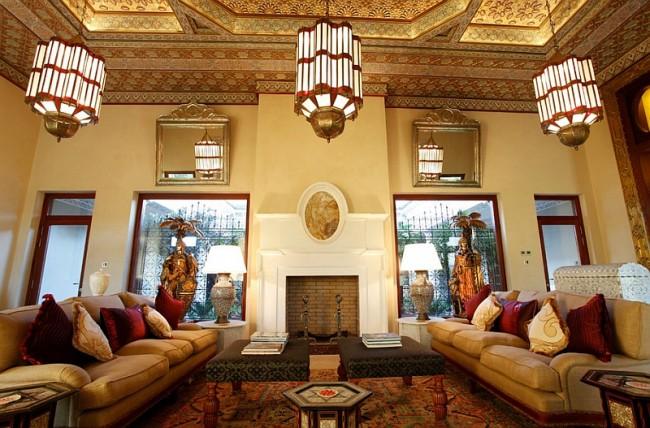 Lustre en vitrail de style marocain