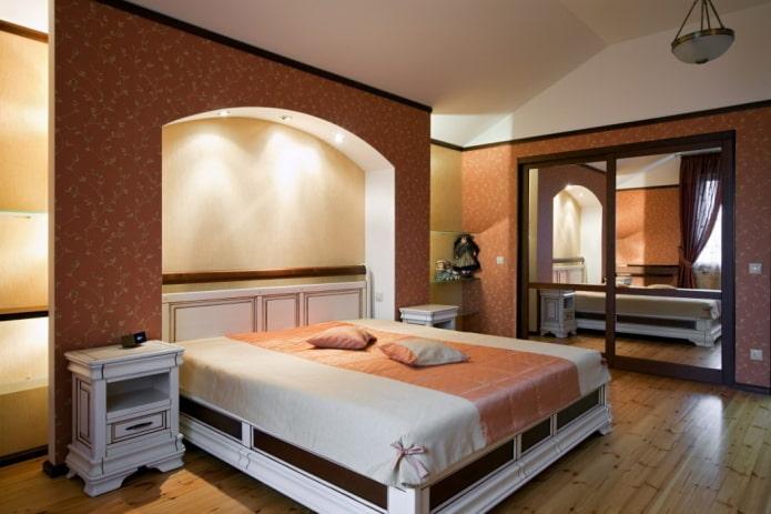 arche de placoplâtre à l'intérieur de la chambre