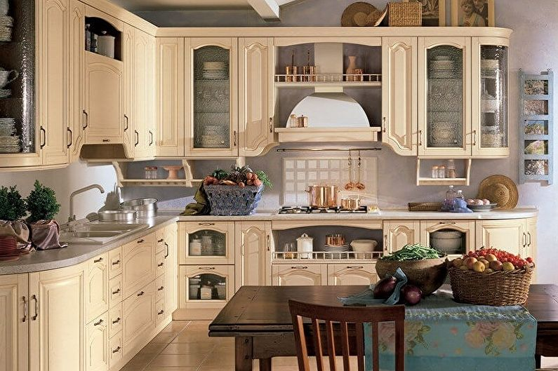 Cuisine de style provençal beige - Design d'intérieur