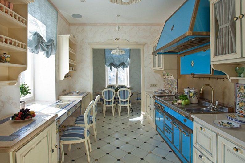 Conception de cuisine de style provençal - Finition de sol
