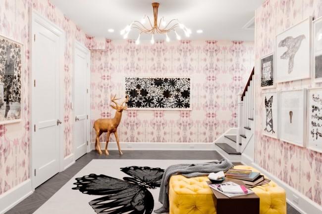Combinaison luxueuse de noir avec des nuances de rose pâle