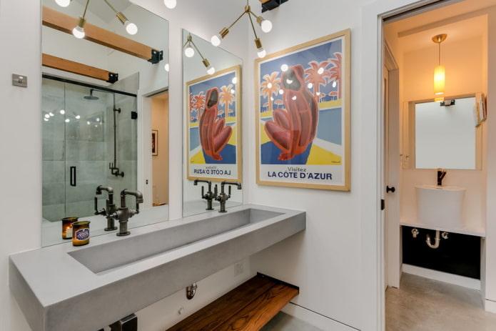 ameublement de salle de bain style loft