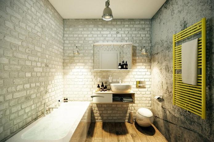 décorer une salle de bain dans le style loft
