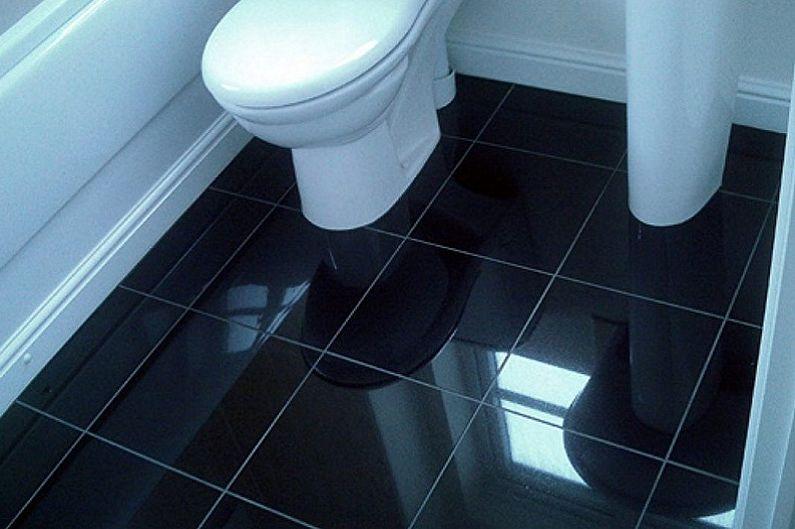 Conception de toilettes à Khrouchtchev - Finition des sols