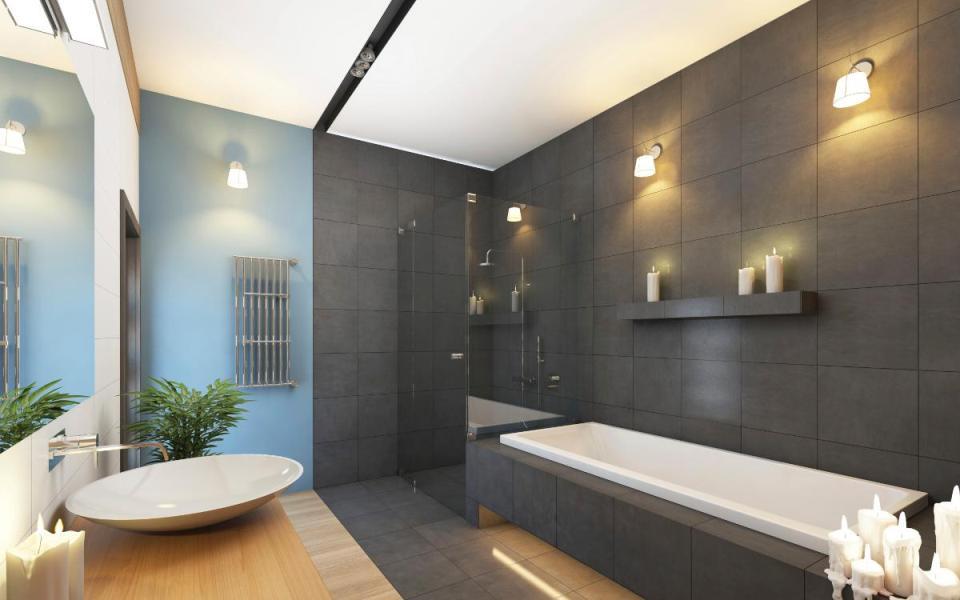 Éclairage doux de la salle de bain