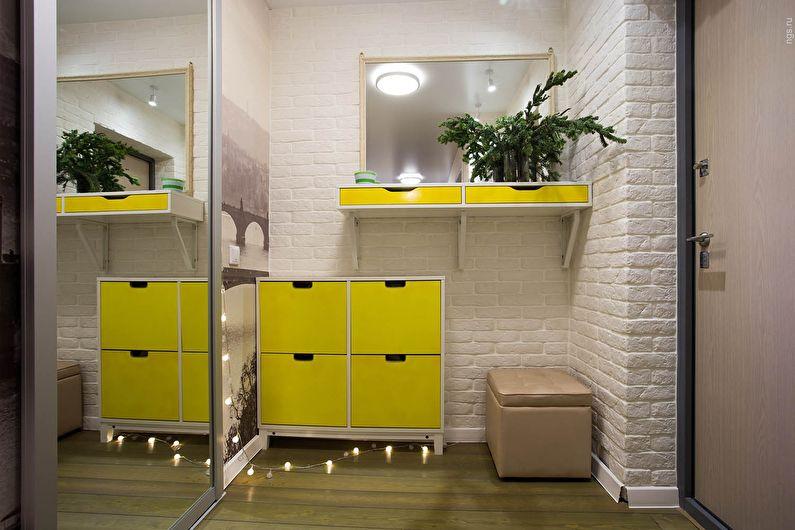 Conception de couloir dans un style moderne - Combinaisons contrastées