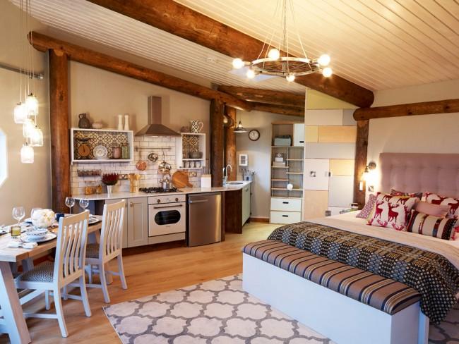 Avec une bonne planification, même un petit appartement d'une pièce peut devenir confortable et très élégant.