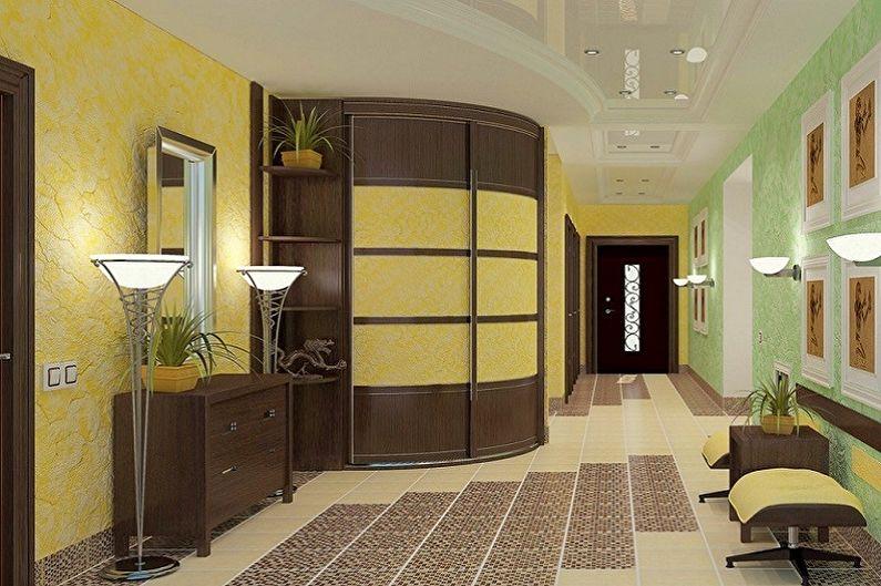 Types d'armoires d'angle pour le couloir