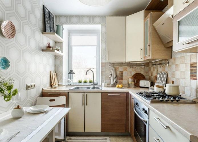 finition de la cuisine d'une superficie de 5 m²