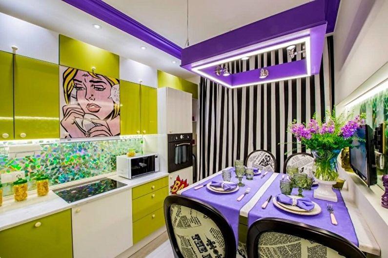 Cuisine Pop Art Violet - Design d'intérieur