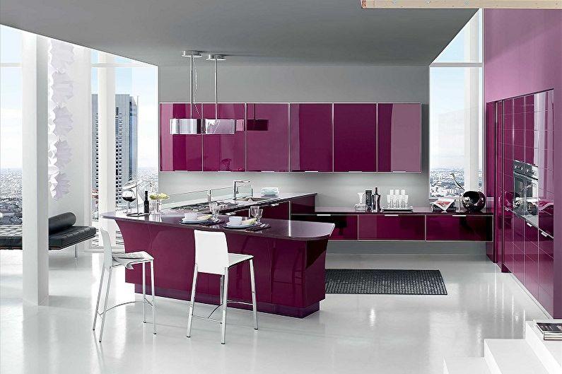 Cuisine Art Nouveau Violet - Design d'intérieur
