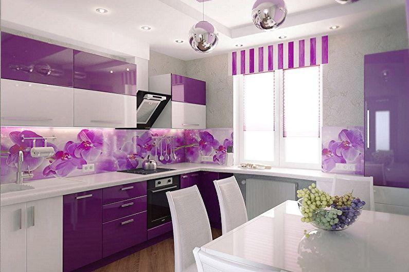 Conception de cuisine violette - Caractéristiques