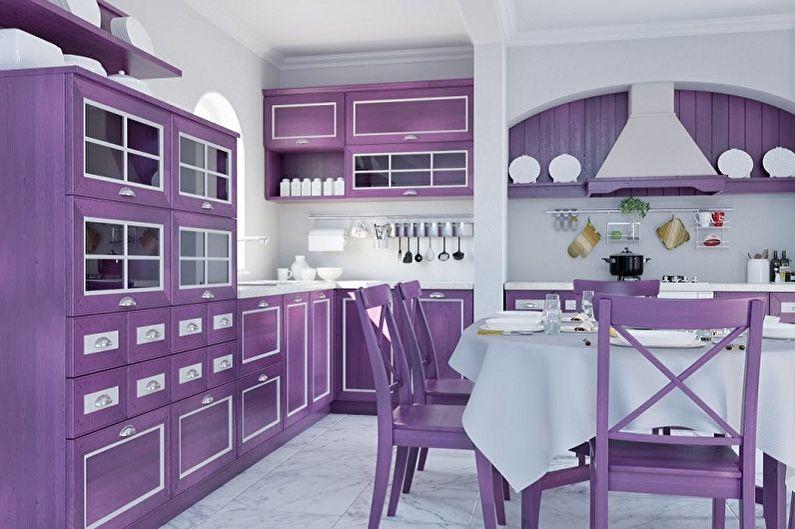 Cuisine de style provençal violet - Design d'intérieur
