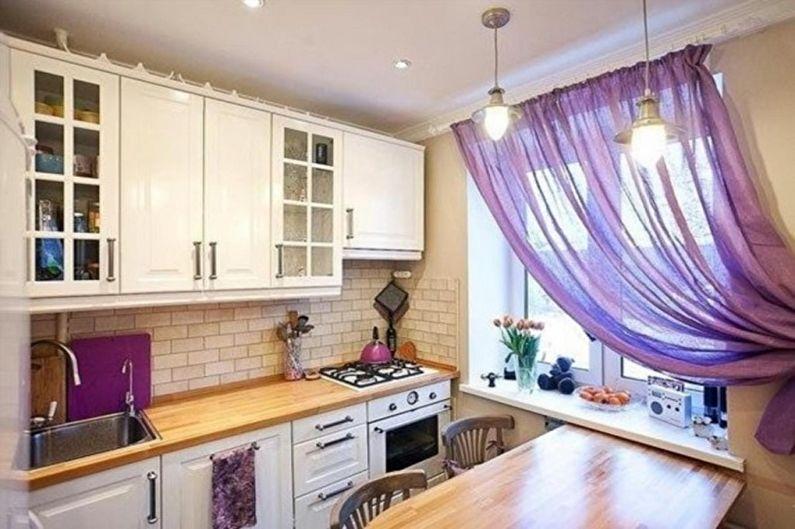 Cuisine de style scandinave violet - Design d'intérieur