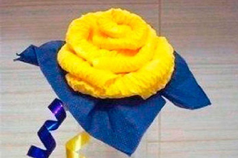 Fleurs de serviette DIY - Rose jaune luxuriante