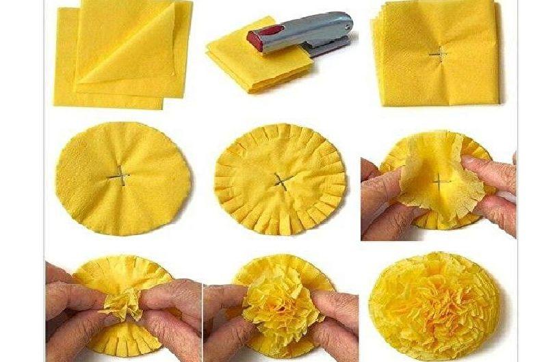 Fleurs de serviette DIY - Pissenlit printanier