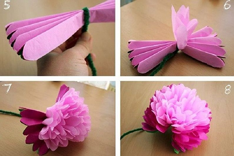 Fleurs de serviette DIY - Pivoines