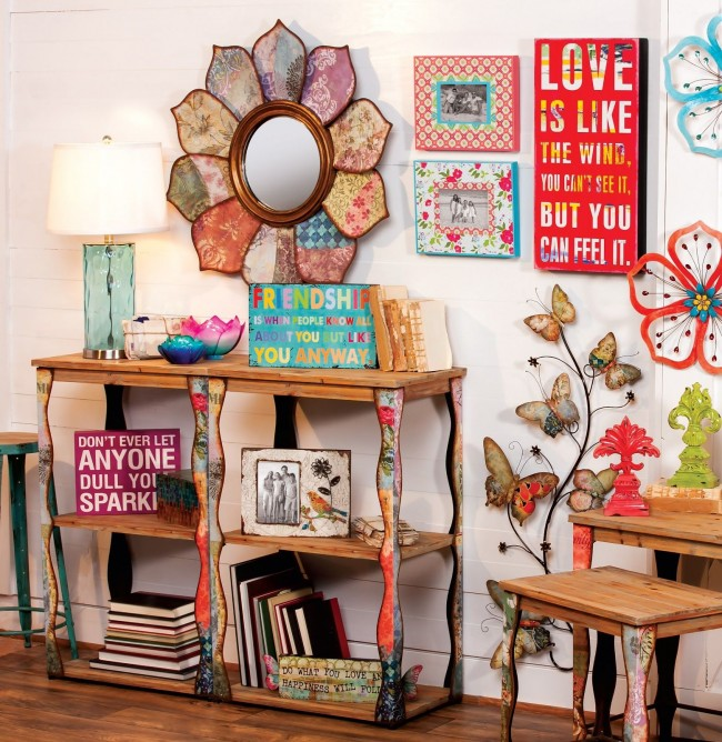 Kaléidoscope fou de couleurs, de motifs et d'affiches de motivation