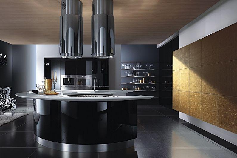 Cuisine noire high-tech - Design d'intérieur