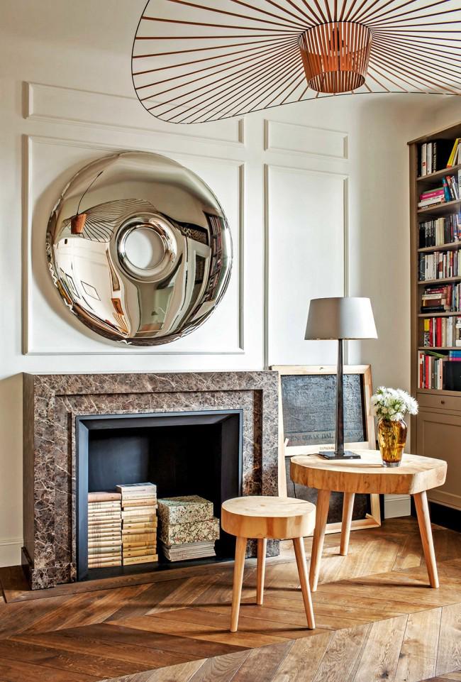 Utilisation pratique d'une cheminée décorative