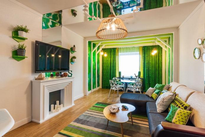 couleur verte à l'intérieur