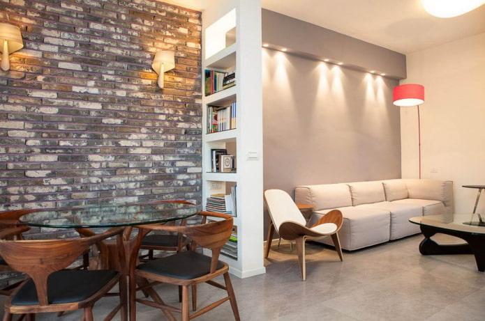 mur de briques dans un studio