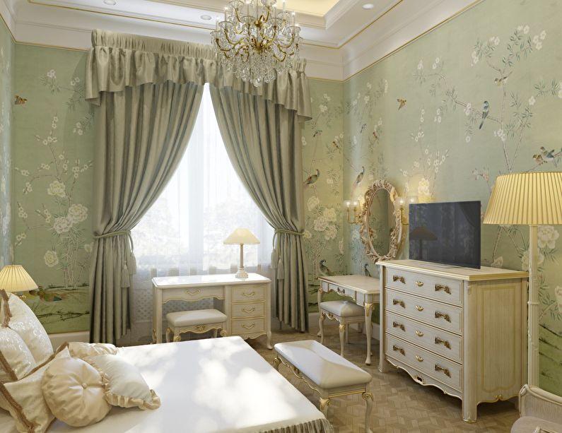 Conception d'une petite chambre d'enfants dans un style classique