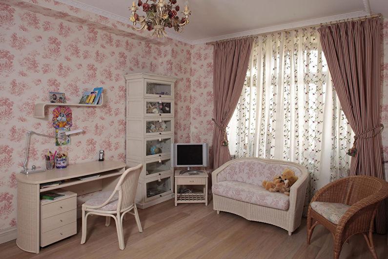 Conception d'une petite chambre d'enfants de style provençal