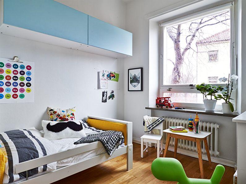 Petite chambre d'enfant en blanc