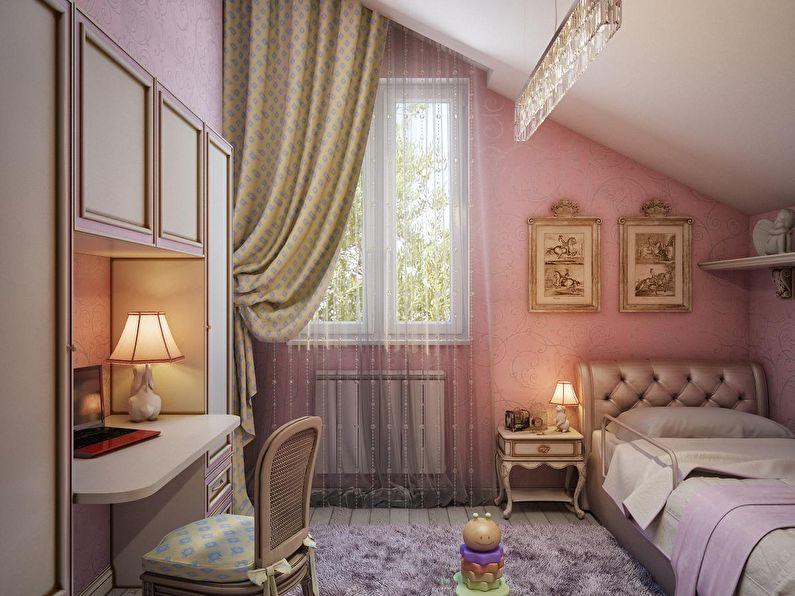 Petite chambre d'enfant en rose