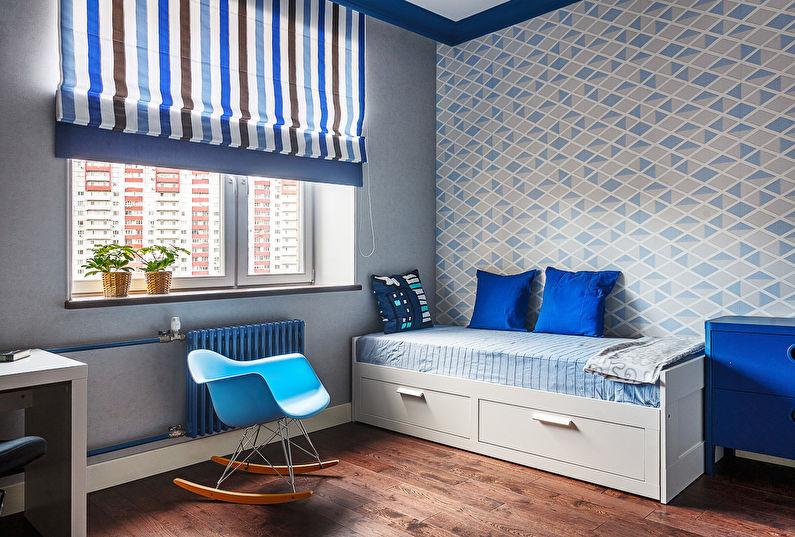 Petite chambre d'enfant dans les tons bleus
