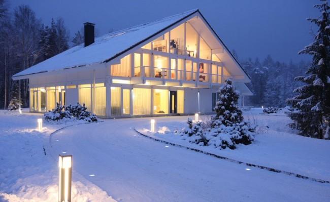 La construction à colombages donne à la maison un charme particulier