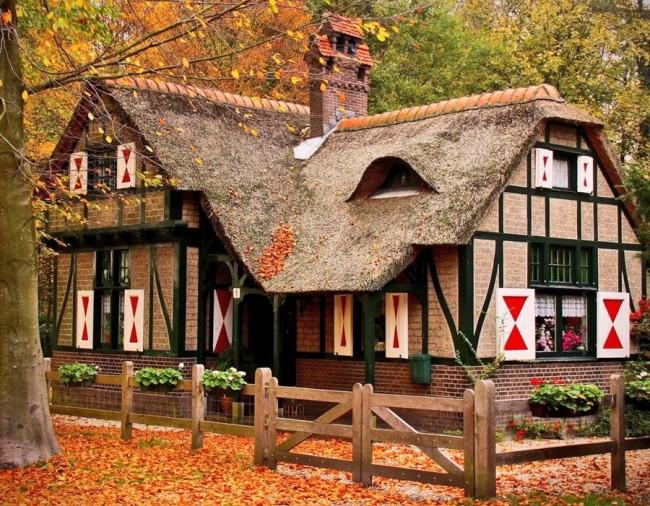 Maison de campagne classique à colombages