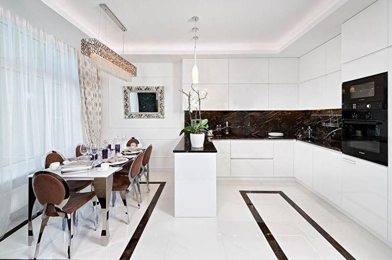 Cuisine Art Déco Blanche - Design d'intérieur