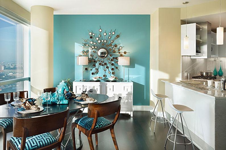 Cuisine Art Déco Bleu - Design d'intérieur