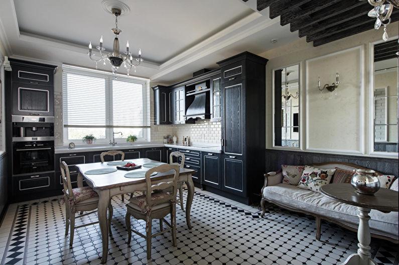 Cuisine Art Déco Noir - Design d'intérieur