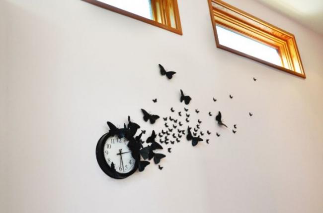 Décoration d'horloge murale bricolage