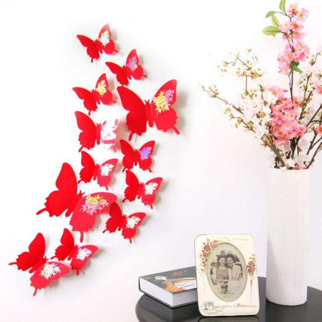Décoration murale de grands papillons lumineux