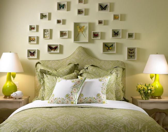 Collage au mur de la collection de papillons dans le cadre