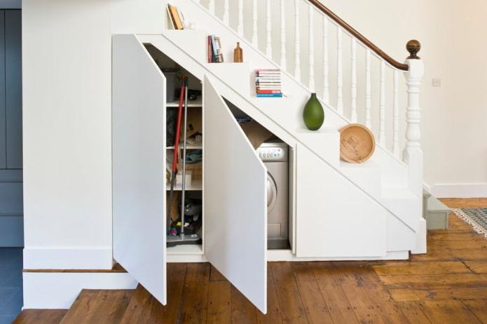 débarras sous les escaliers à l'intérieur