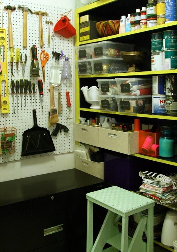 conception de garde-manger avec atelier à domicile